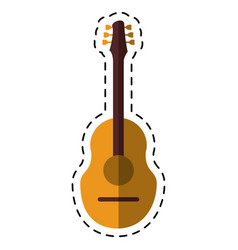 Cartoon guitar traditional acoustic music vector