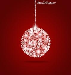 Christmas ball with snowflakes vector image vector image