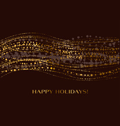 christmas decorative snow wave on black vector image vector image
