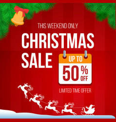 christmas retro sale banner vector image vector image