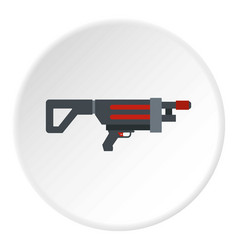 Game gun icon circle vector