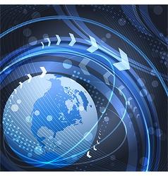 Globe in blue vector