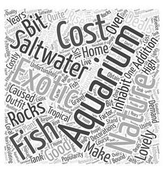 Good deals on a saltwater aquarium word cloud vector