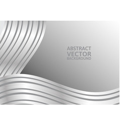 gray curve abstract background with copy space vector image vector image