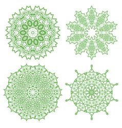 Green geometric ornament vector