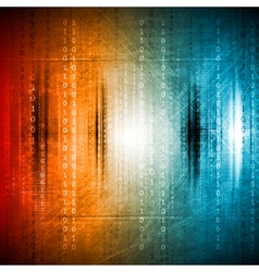 Grunge colorful hi-tech background vector image vector image
