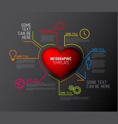 Heart infographic report template vector