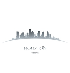 Houston Texas city skyline silhouette vector image vector image