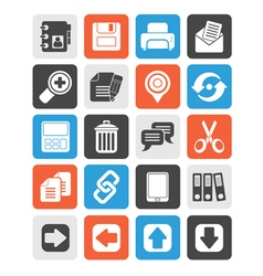 Internet interface icons vector