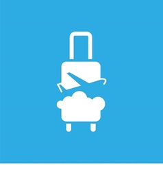 Logo with suitcase plane and sky vector