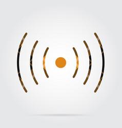 Orange black tartan icon sound vibration symbol vector