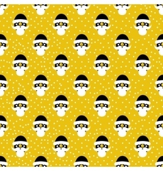 Pattern from santa claus with golden elements vector