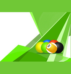 pool balls background vector image