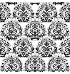 seamless lace floral2 vector image vector image