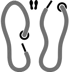shoelace shoe print symbols vector image vector image