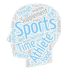 Sports Supplements text background wordcloud vector image vector image