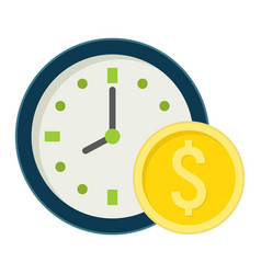 Time is money flat icon business and finance vector