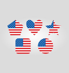 Usa graphic icons vector