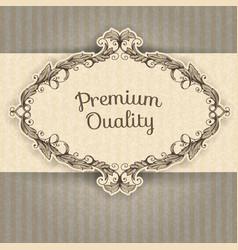 vintage frame and grunge background vector image