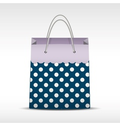 Vintage shopping bag in retro polka dots vector image vector image