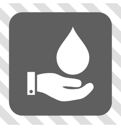 Water service rounded square button vector
