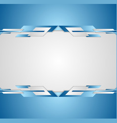 Blue shiny hi-tech motion flyer background vector