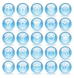 Shine glass icons vector