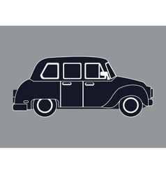 Silhouette taxi car contemporary side view vector