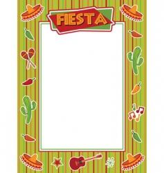 fiesta frame vector image