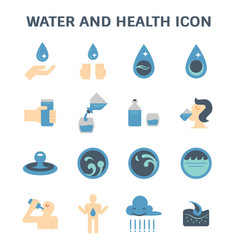 Water and health vector