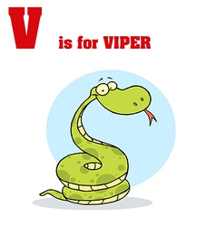 Viper cartoon with letter vector