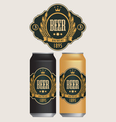 beer labels for two beer cans vector image
