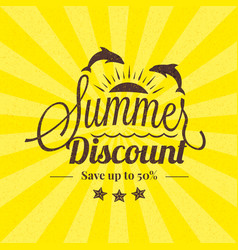 Summer sale banner typographic retro style summer vector