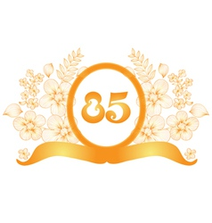 85th anniversary banner vector