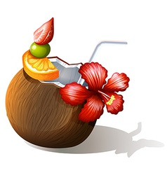 A refreshing beach drink vector