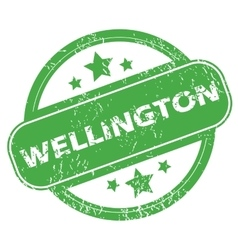 Wellington green stamp vector