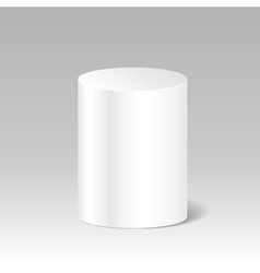 Realistic blank white cylinder product package vector