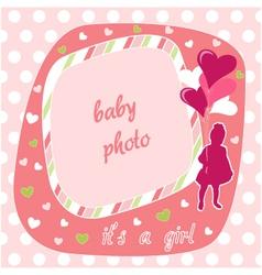baby girl photo frame vector image