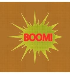 Boom vector image