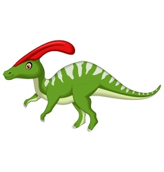 Dinosaur parasaurolophus cartoon vector