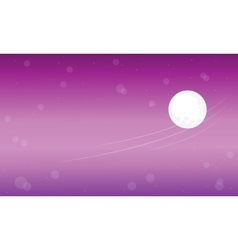 A cartoon funny planet landscape vector