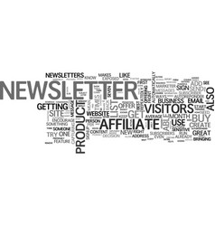 Affiliate tip create a newsletter text word cloud vector
