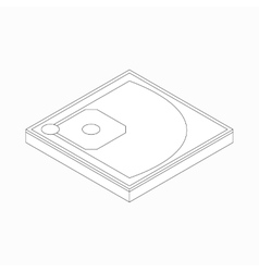 Baseball field icon in isometric 3d style vector
