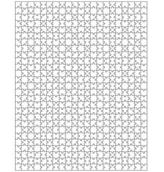 Big puzzle vector image