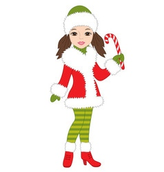 Christmas Girl vector image