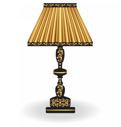 Classic lamp with golden ornaments vector