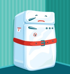 Fat fridge vector
