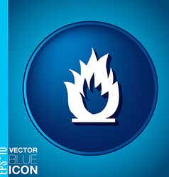 fire sign vector image