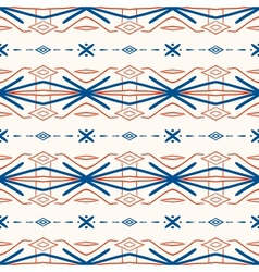 Geometric pattern with Scandinavian ethnic motifs vector image vector image