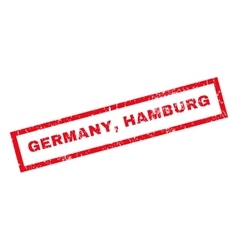 Germany Hamburg Rubber Stamp vector image vector image